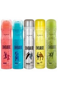 Engage Spell, Blush, Trail, Tease, Drizzle Pack of 5 Deodorants For Women