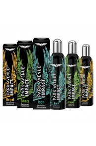 Park Avenue Impact Sharp, Regal And Icon Pack Of 3 Deodorants For Men