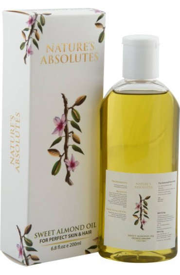ature's Absolutes Virgin Almond Carrier Oil - 200 ml - 100% Pure, Cold-Pressed, Organic . Great As a Baby Oil -200ml