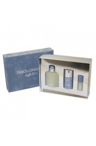 DOLCE AND GABBANA LIGHT BLUE 3 PIECE GIFTSET FOR MEN