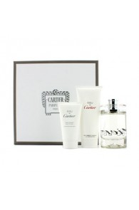 Cartier Eau De Cartier Coffret: Eau De Toilette Spray for Women Gift Set  for (Set of 3) (Import Only)