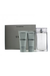 Ermenegildo Zegna Uomo Coffret Gift Set for Men (Set of 3) (Import Only)